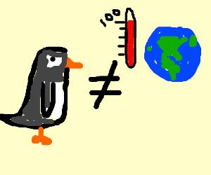 Penguins disprove global warming