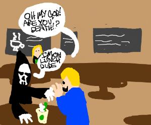 Death takes a lunchbreak