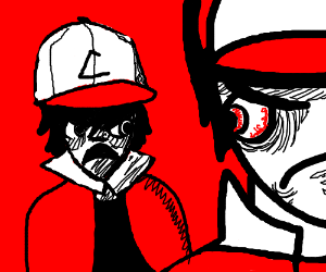 Red argues with ash(pokemon)