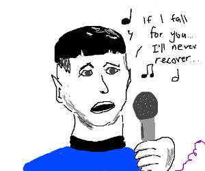 Spock sings Karaoke