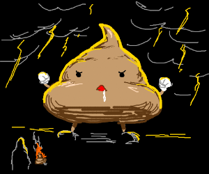 If you set poop of fire it summons a PoopGolem