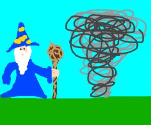 Wizard airbends a Vortex