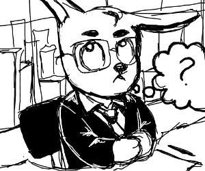 capitalist rabbit ponders meaning of life