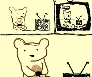 Bear plays meta video game