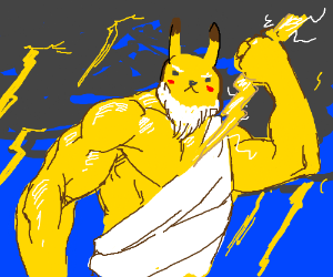 PIKACHU, LORD OF THUNDER AND OLYMPUS