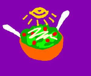 Illuminati has taken over your salad