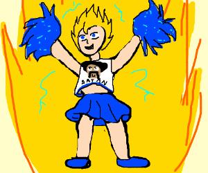 goku as a cheerleader