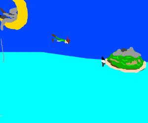 Scrat on the Dreamworks D fishing