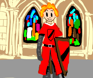 Little Orphan Annie becomes a Red Knight