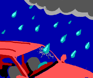That raindrop just cracked your windshield