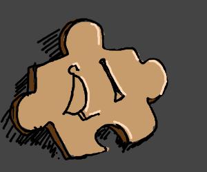 Hieroglyphic puzzle piece.