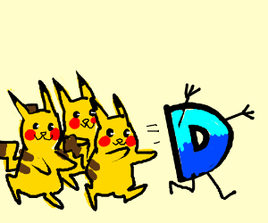 3 Pikachus want Drawception D