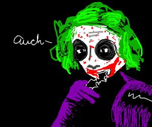 Joker eats buttered batarang, has allergies
