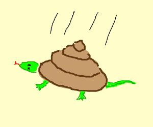 Giant turd killed a lizard