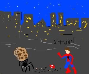 Spider steals revealed Spiderman's cookie
