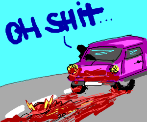 The Flash gets killed in a road accident