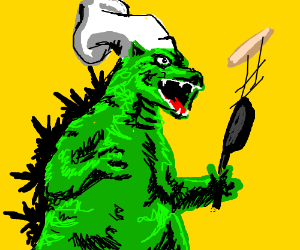 Godzilla is an expert Chef