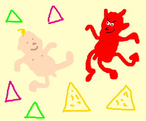 babies, evil babies, triangles and doritos