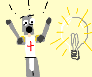 Templar is astonished by a light bulb