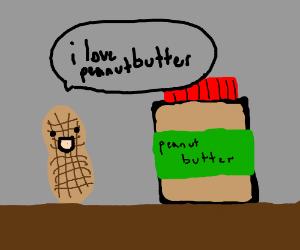Happy peanut in love