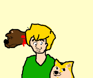 Scooby dead; older Shaggy now travels wit Doge