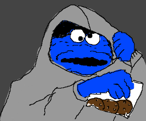 cookie monster is a cookie pusher