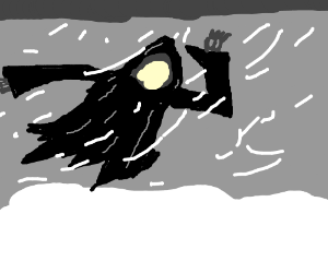 Dementor in a snow storm