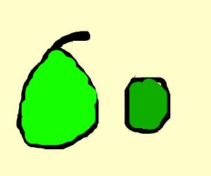 pear and kiwi