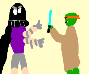 star wars/ninja turtle crossover