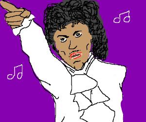A purple (music) note