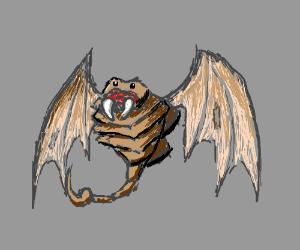 A winged scorpion-like dromedary