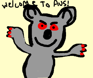 Koala welcomes you to Australia