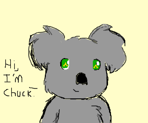 chuck the triforce koala