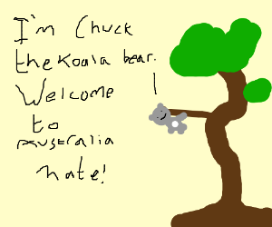 Kola Bear called Chuck welcomes you mate!