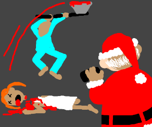 Boy beheads sister; Santa takes photo w/ phone