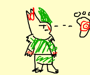 Zangoose dresses as Link, stalks foot target