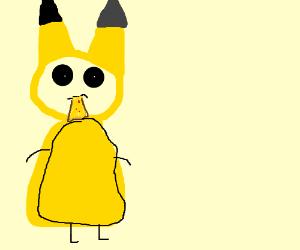 Pokeman eating pizza