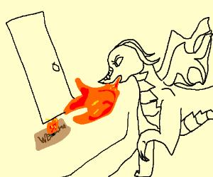 Dragon Burns a Welcome Mat