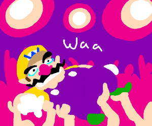 Wario attempts to crowd surf