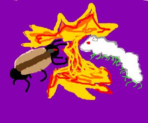 Ant-hotdog vs sheepapiller. FIGHT