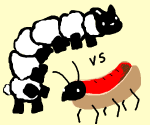 Hotdog Ant Vs. Centipede Sheep