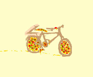 The pizza cycle includes a box.