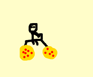 pizza bicycle