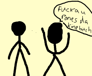 Some guys arguing about pones