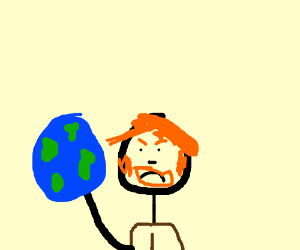Chuck Norris doesn't run, he spins the earth