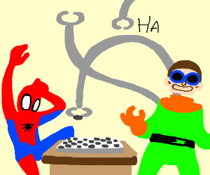 Doctor Octopus owns at checkers