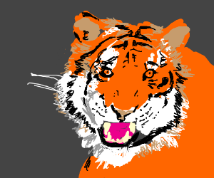 Very well drawed Tiger