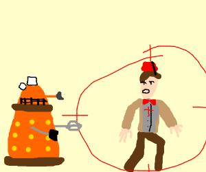 dalek have the eleventh doctor on target