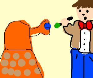 Orange Dalek aims at 11th Dr.