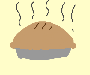 steaming hot pie